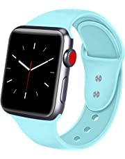ATUP Strap Compatible for Watch Strap 38mm 42mm 40mm 44mm, Soft Silicone Replacement Straps for iWatch Series 4, Series 3, Series 2, Series 1