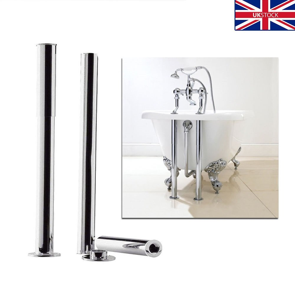 The Home Store Chrome Bathroom Standpipes/Shrouds-Telescopic For Roll Top Bath Taps Pipe Cover Casa
