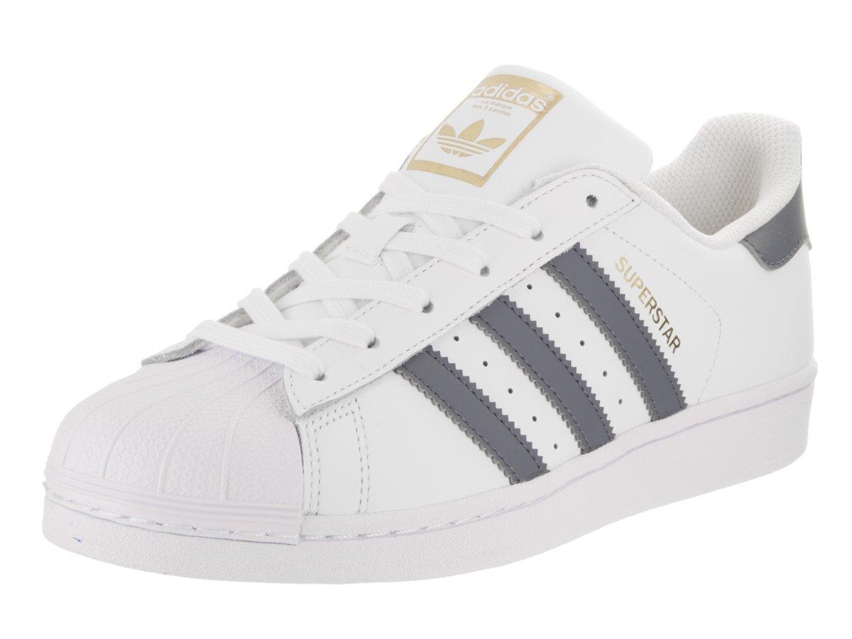 adidas Kids Superstar Foundation Originals White/Onix/Gold Metallic Casual  Shoe 4 Kids US