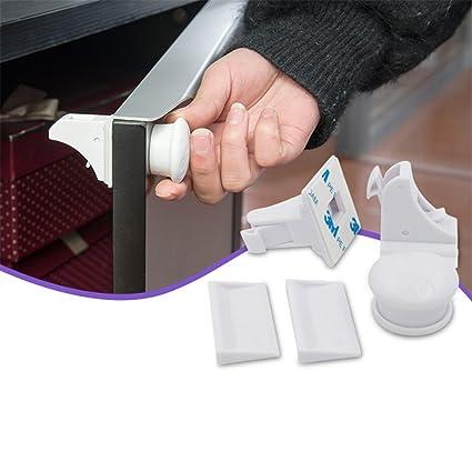 befitery bloque Cajón, seguridad cerrojos cerradura magnética Invisible Seguridad Cerraduras