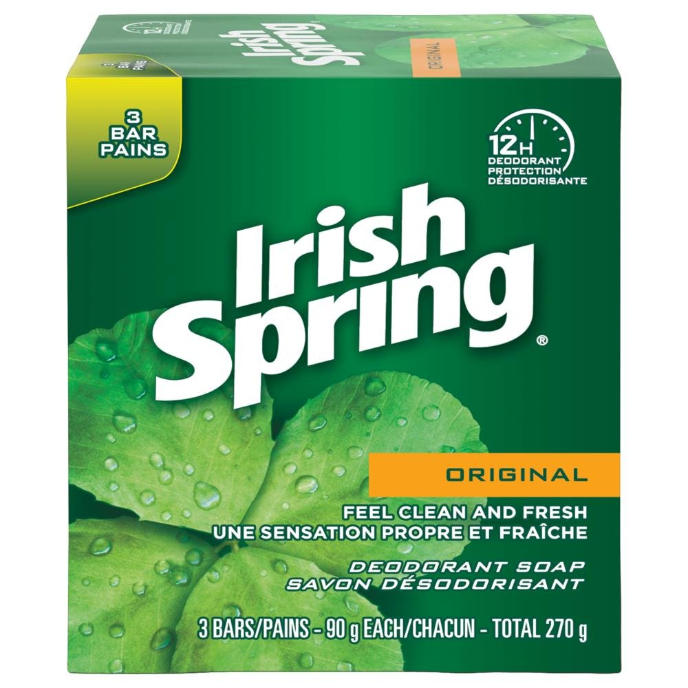 Irish Spring Icy Blast Deodorant Bar Soap, 6x90g 320268