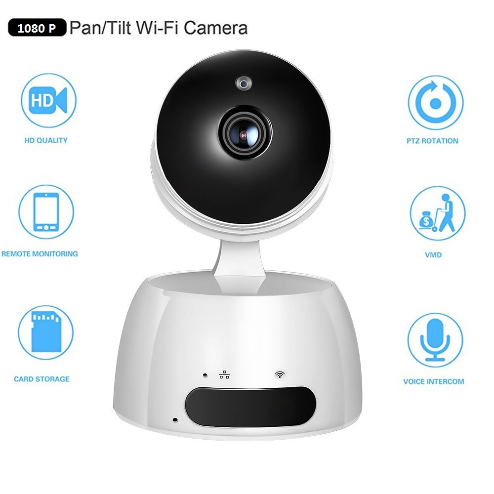 Wifi Wireless Ip Camera HD 1080P Security Surveillance Cameras Video Monitoring Pan Tilt with Two Way Audio and Night Vision