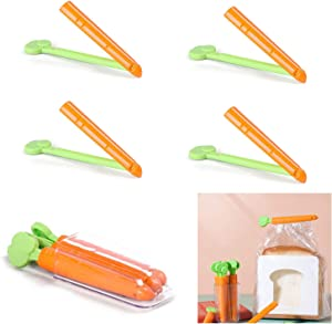 Bag Clips for Food, 10PCS Carrot Shape Seal Pour Food Storage Bag Clip Food Storage Bag Sealing Clips, Easter Decorations Clips for Food Packages Food Clips