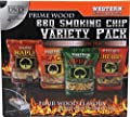 WESTERN 80485 Prime Wood BBQ Smoking Chips Variety Pack by WW Wood inc