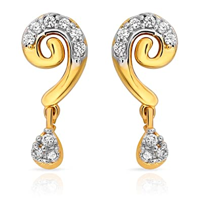 7022f7045 Buy Craftsvilla Mahi Curvy Beauty Earrings With Gold Plating For Women  Online at Low Prices in India | Amazon Jewellery Store - Amazon.in