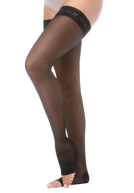 Relaxsan Basic 870A calze autoreggenti compressive 140 den punta aperta
