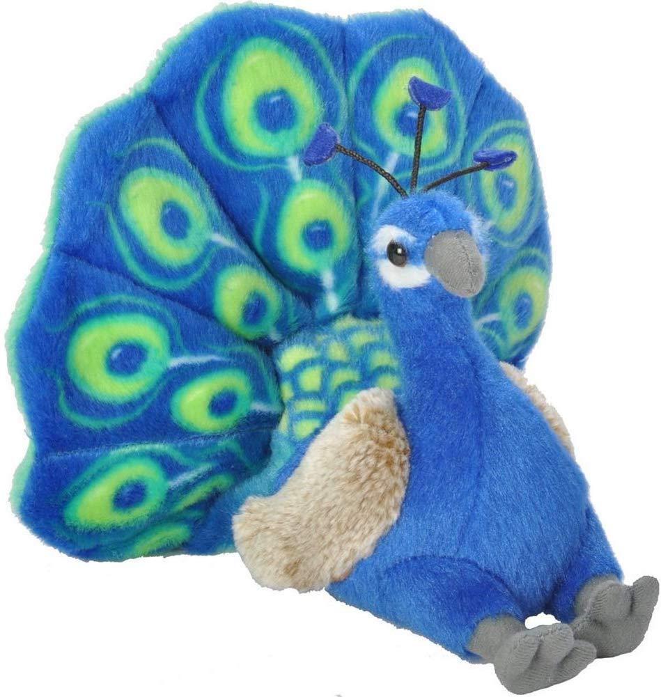 Wild Republic 13811 Peacock Plush, Cuddlekins Cuddly Soft Toys, Kids Gifts, 20 cm, Multi
