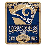 rams football - The Northwest Company NFL Los Angeles Rams Marque 50-inch by 60-inch Printed Fleece Throw, Los Angeles Rams, 50-Inch x 60-Inch