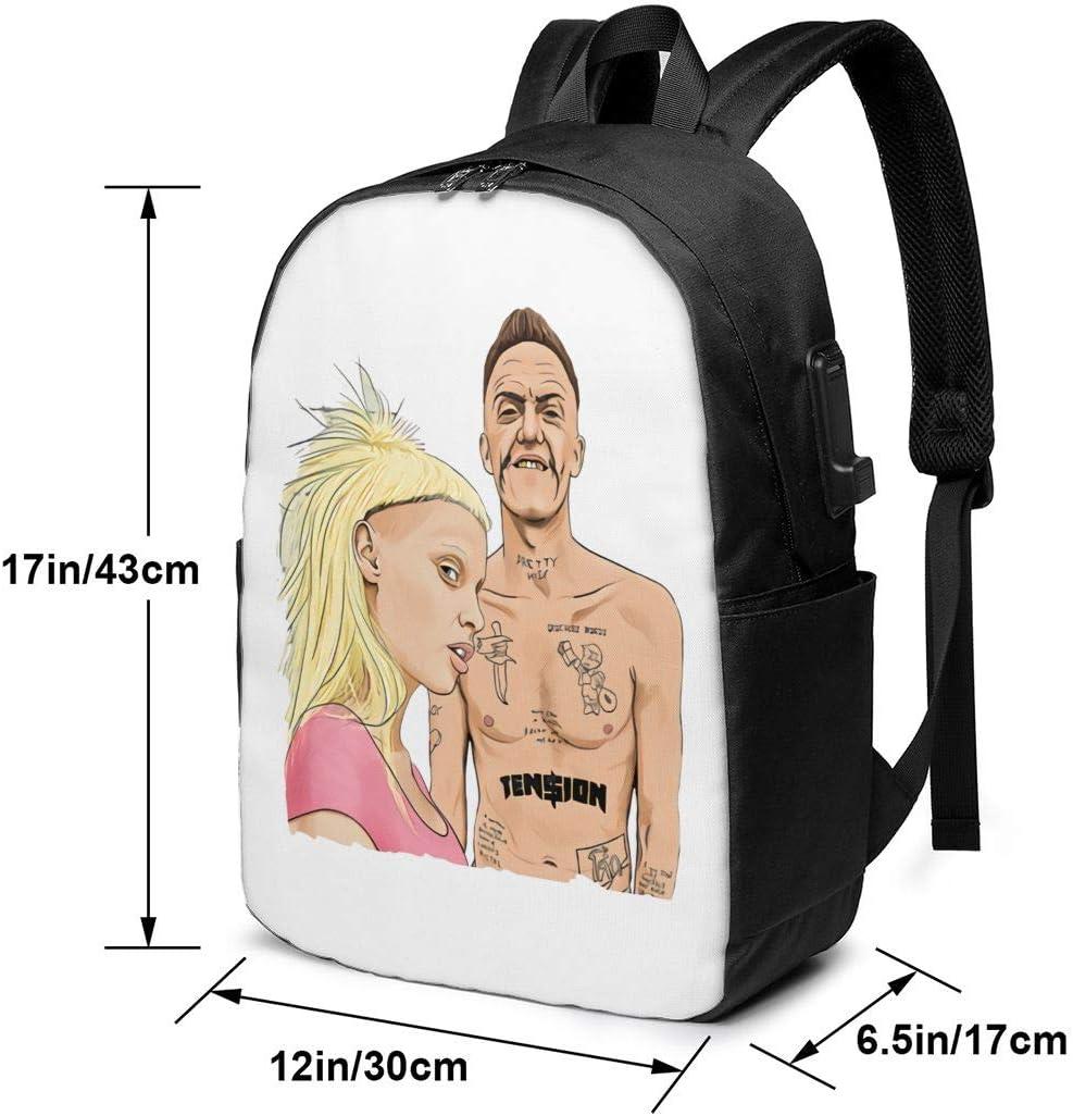 Die Antwoord Laptop Backpack for Men//Women Travel Bag USB Charging