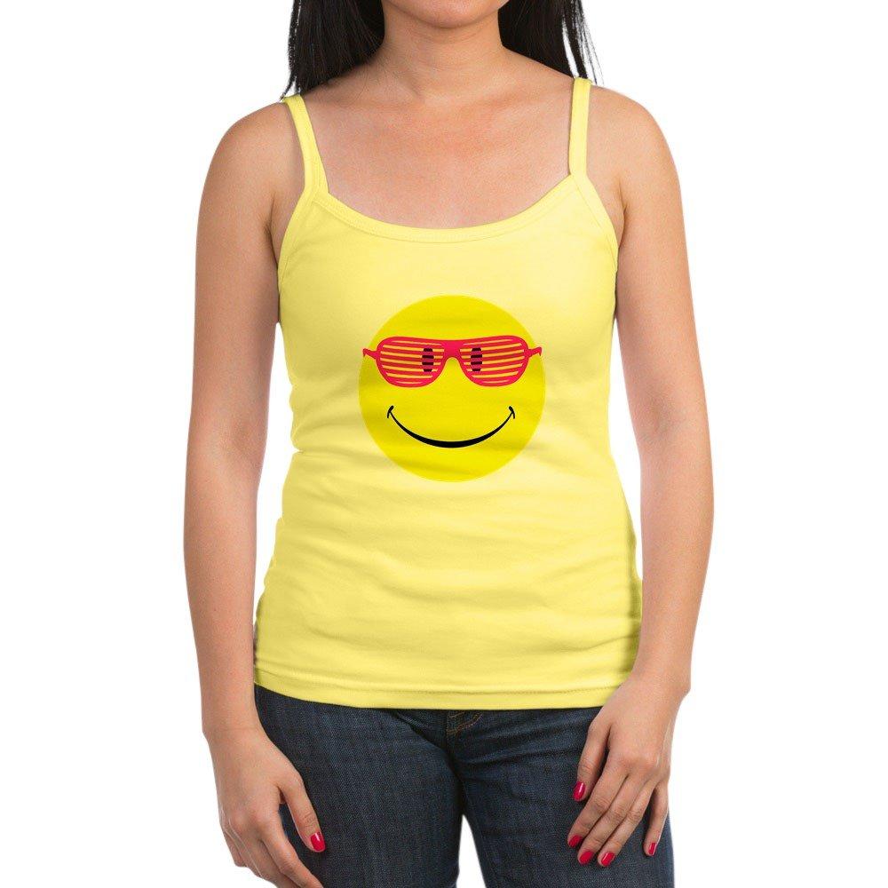 Spaghetti Tank Neon Yellow Smiley Face Sunglasses Royal Lion Jr