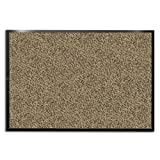 casa pura Carpet Entrance Mat, Beige/Black (Mottled) 48'' x 72'' | Absorbent, Non-slip, Indoor/Outdoor (Multiple Sizes)