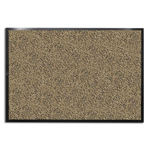 casa pura Carpet Entrance Mat, Beige/Black (Mottled) 16