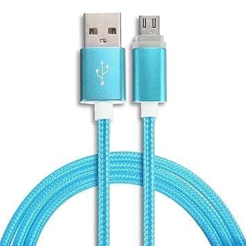 bonjouree Cable Micro USB cargador cable de datos para ...