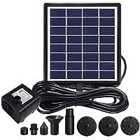 DeeCozy Bomba de Fuente Solar de 2W, Bomba Sumergible de Fuentes de Agua con energía Solar con 7 boquillas, Bomba…