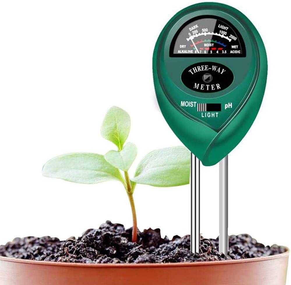 Soondar Soil Test Kit 3-in-1 Soil PH Meter, Soil Tester, Moisture, Light & pH Meter for Plant, Vegetables, Garden, Lawn, Farm, Indoor & Outdoor Use (No Battery Needed)