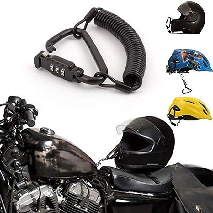 Amazon.com: Motorcycle Helmet Lock Black Combination PIN ...