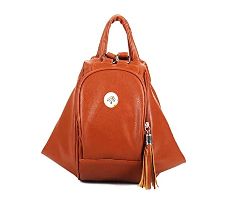 c9d4751ba422 DI GRAZIA 2 Way Convertible(2 in 1) Hobo Tassel Womens Shoulder Sling Handbag  Backpack - Chocolate Brown  Amazon.in  Clothing   Accessories