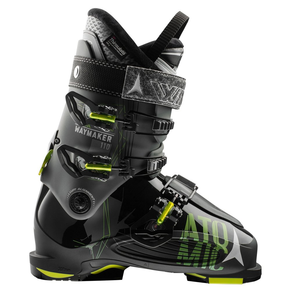 Atomic Waymaker 110 Ski Boot Anthracite/Black/Lime, 25.5 by Atomic