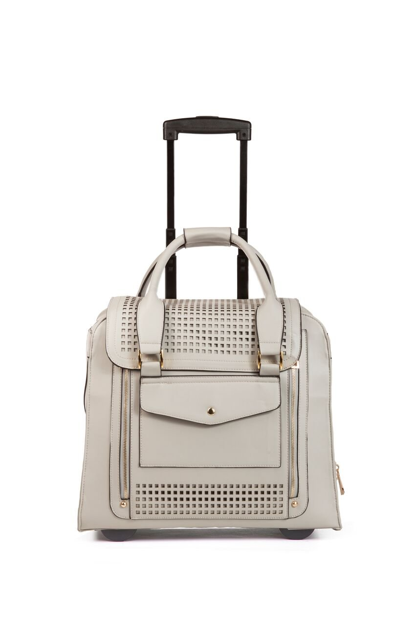 Hang Accessories Zadie Perforated Grey Rolling Trolley Bag