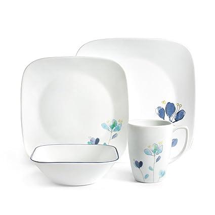 CORELLE 1127697 Dalena Dinnerware Set White  sc 1 st  Amazon.com & Amazon.com | CORELLE 1127697 Dalena Dinnerware Set White ...