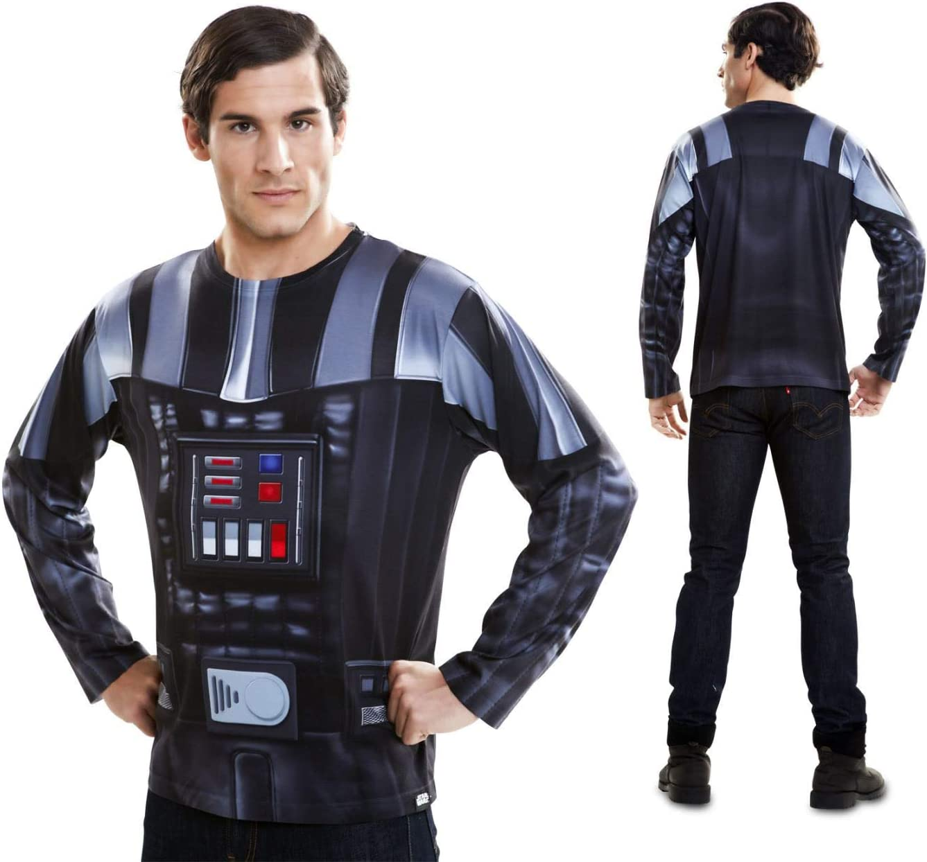 Disfraz Camiseta de Star Wars Darth Vader Original de Carnaval ...