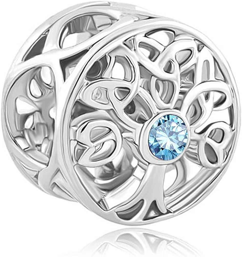 Korliya/Breloque pour bracelet avec arbre de vie
