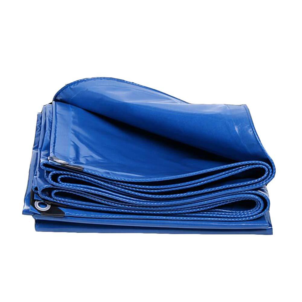 DALL ターポリン 防雨布 多機能 防水 日焼け止め シェードクロス トラック (色 : 青, サイズ さいず : 4*6m) 4*6m 青 B07KSRN8ZH