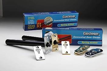 STX/_526295 Gibcloser Concealed Chain Door Closer 18 x 5 x 2.5cm Brass C31E