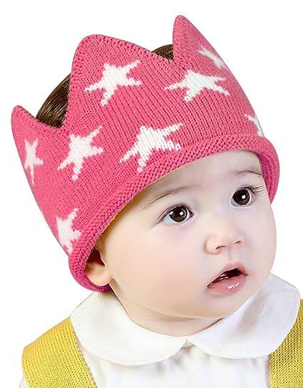 Amazon.com  Toddler Boys Girls Crown Warm Soft Birthday Knit Crochet Beanie  Hat  Clothing c9fd3fb29de
