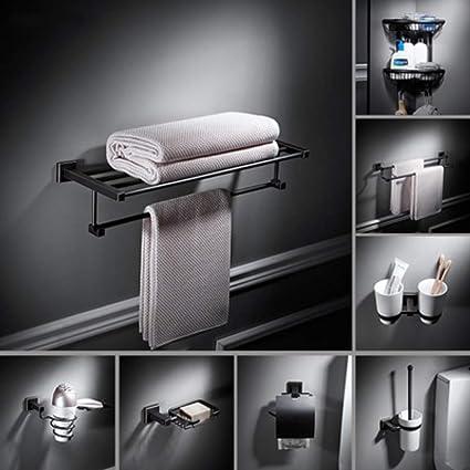 Toallero de pared Nordic perchero negro toalla retro baño ...