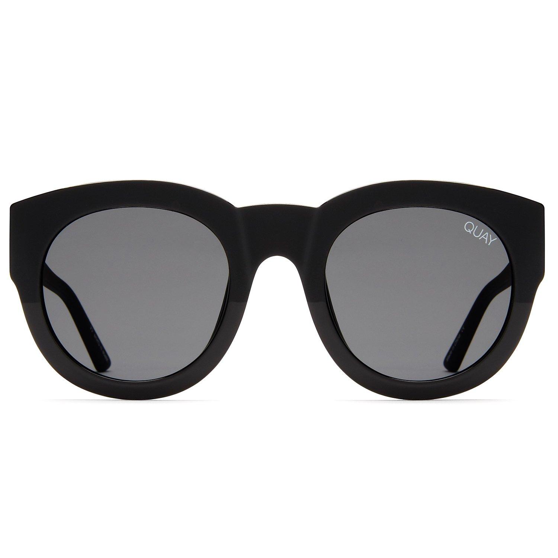 2590fb8ddf4a6 Amazon.com  Quay Australia IF ONLY Women s Sunglasses Round Sunnies -  Black Smoke  Quay  Clothing