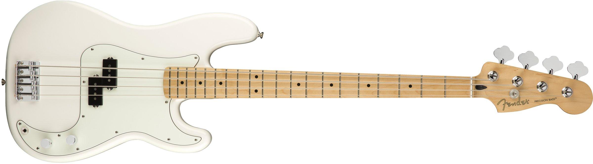 Fender Player Precision Electric Bass Guitar - Maple Fingerboard - Polar White