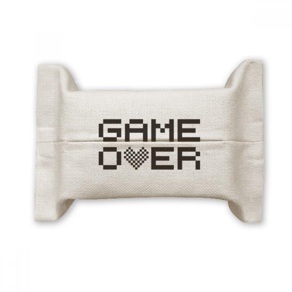 DIYthinker Grey Black Game Over Pixel Cotton Linen Tissue Paper Cover Holder Storage Container Gift