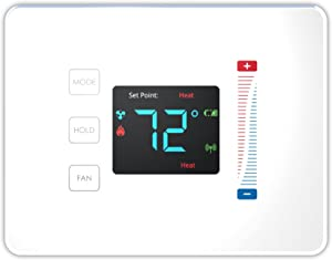 Centralite Pearl Thermostat (Works with SmartThings, Spectrum, Cox, Time Warner Cable, Vera, and ZigBee Platforms), White