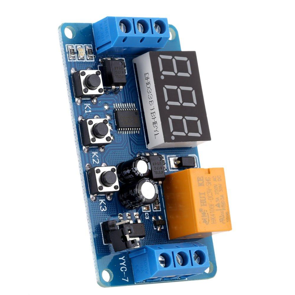 Kkmoon Led Display Automation Digital Delay Timer Relay Circuit Control Switch Module 3v 37v 45v 5v 6v Automotive