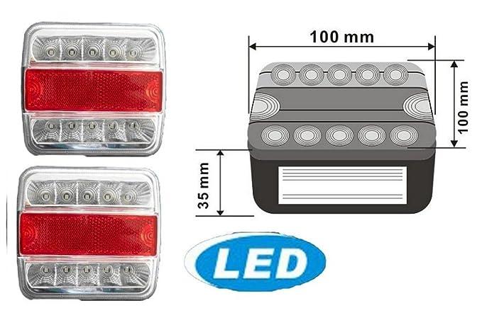 2x 5 Funktionen Anhängerbeleuchtung Anhänger Rückleuchten Rücklicht ...