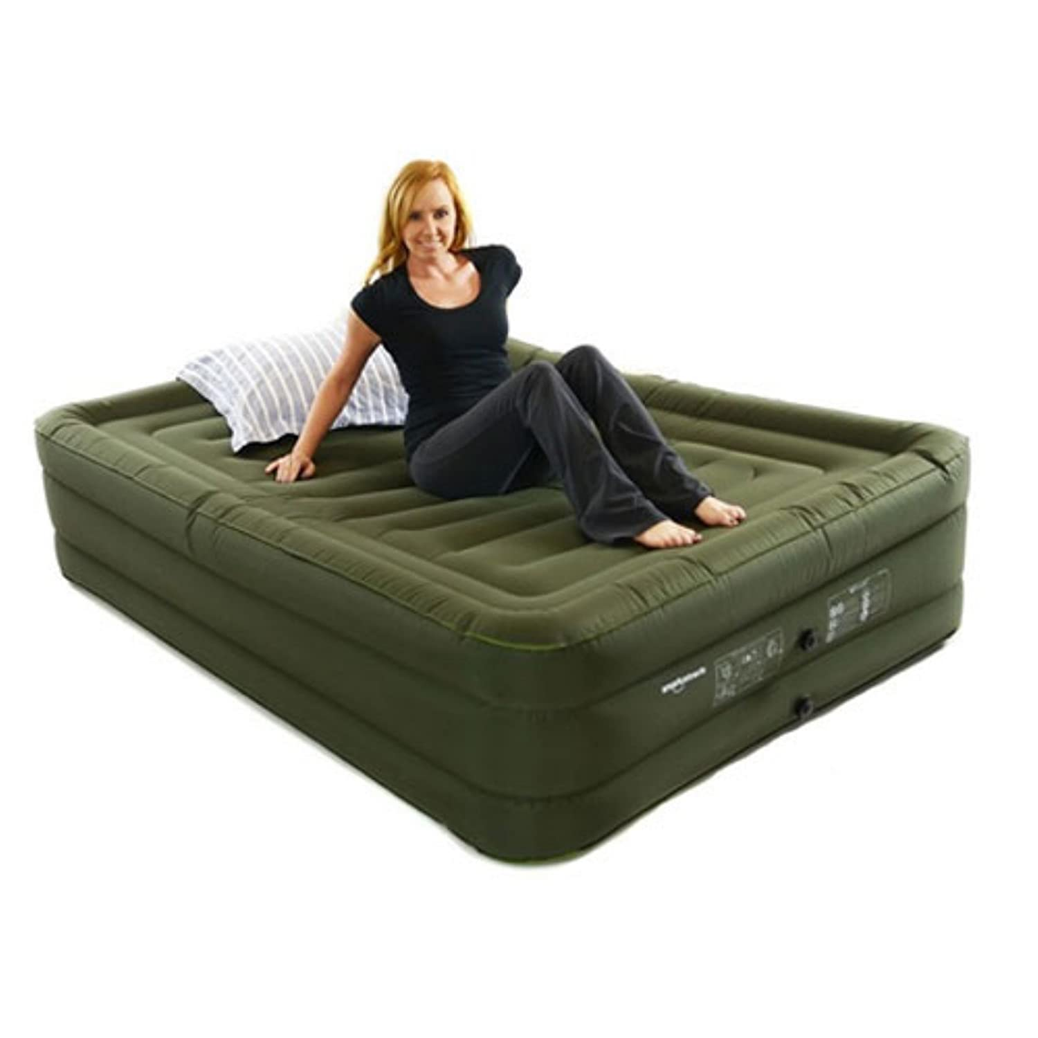 mattress headboard king raised air classic aerobed with comfort from bed