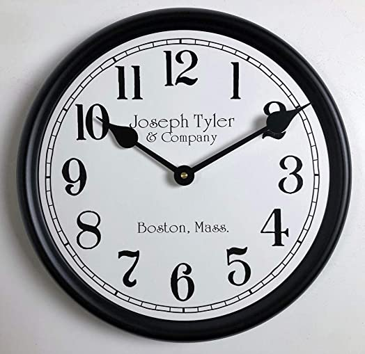 Simply White Wall Clock, Available in 8 Sizes, Most Sizes Ship The Next Business Day,