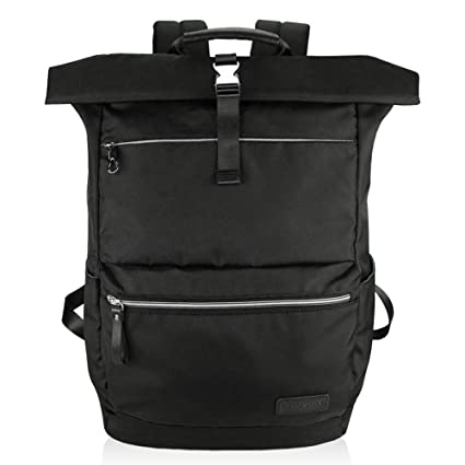 d40d618b89 KROSER Laptop Backpack 17.3 Inch Large School Backpack Roll-Top Stylish  Casual Daypack Water-