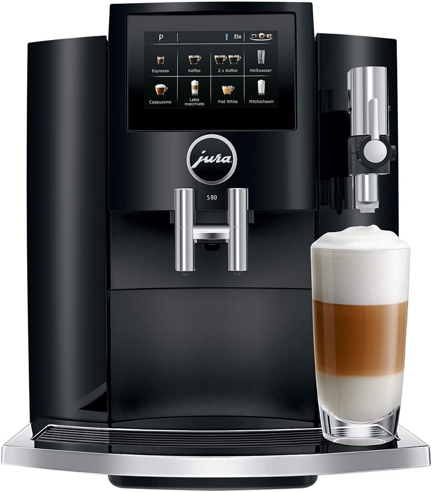 Schwarz 1.9 liters Jura 15204 S80 Kaffeevollautomat