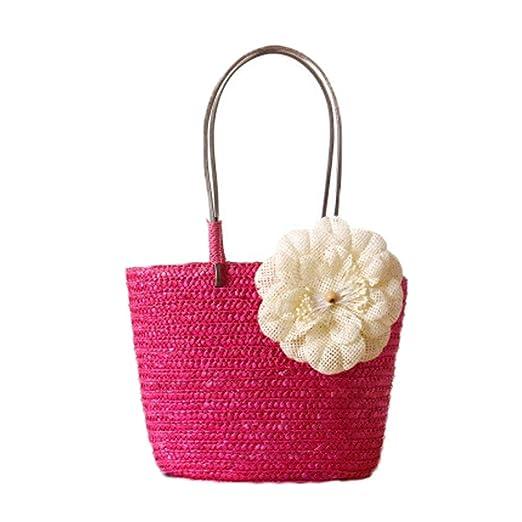 Bolsas de playa para mujer Las mujeres de paja bolsos de ...