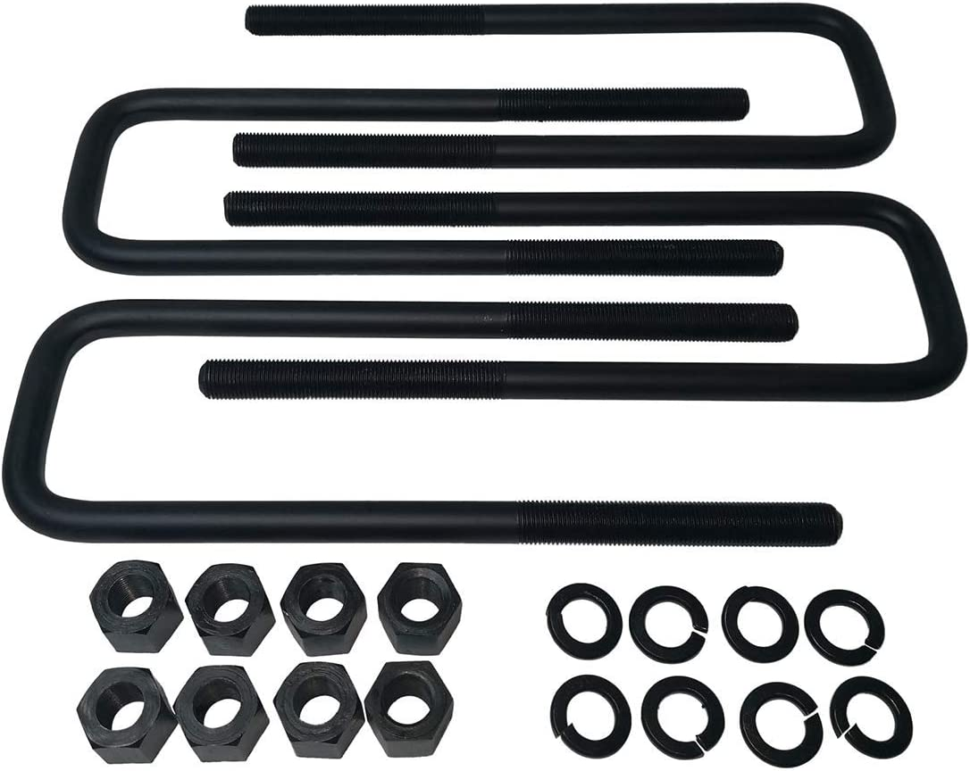 10 U Bolts Dakota 4WD 2 Rear Suspension Lift Solid Cast Iron Blocks