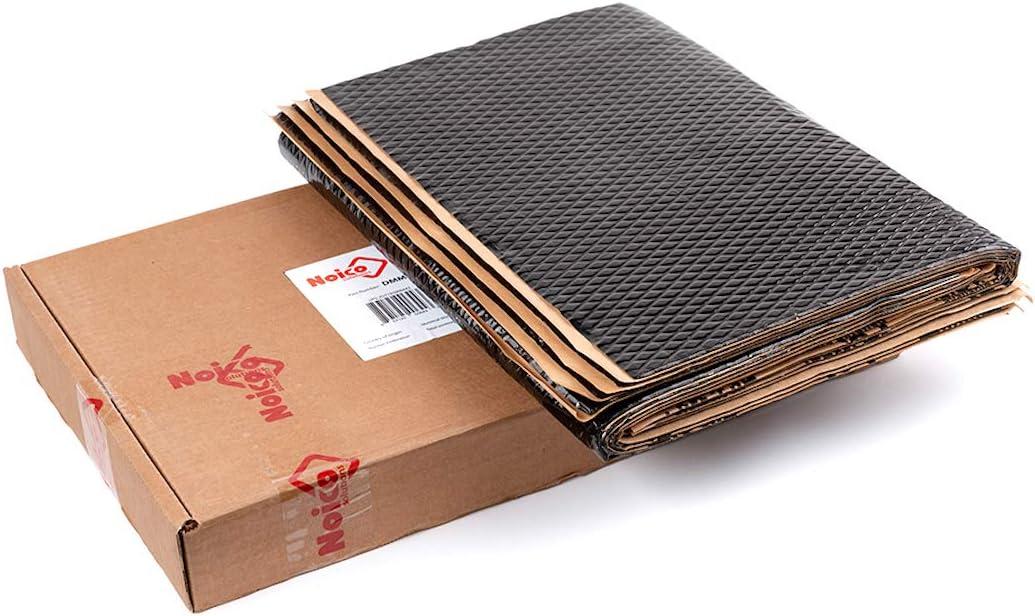 Noico Black 80 mil 18 sqft Car Sound Deadening Mat Audio Noise Insulation and Dampening Butyl Automotive Sound Deadener