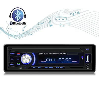 Car Stereo with Bluetooth Car Stereo Recevier Single Din in dash AM FM Car Radio USB SD AUX Input stereo for cars with Wireless Remote: Electronics
