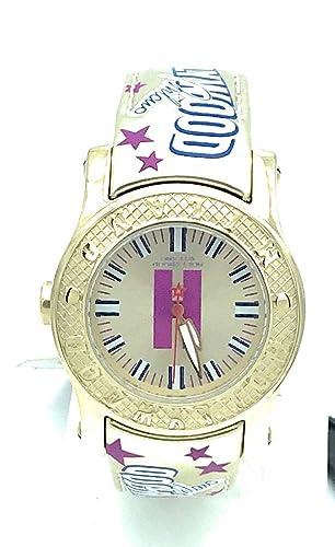 Hollywood Milano Reloj de Mujer con Correa de Piel y Caja de Acero de Color Dorado - HM.6271 m/06: Amazon.es: Relojes