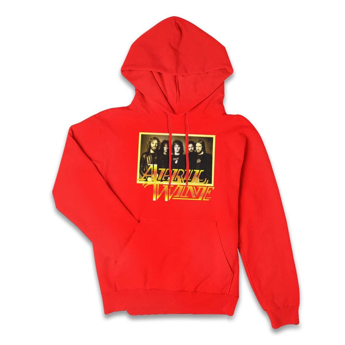 Erman Color Name Comfortable April Wine 1 Pullover Hooded Shirts With Pocket M