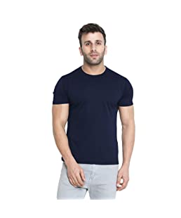 CHKOKKO Men Solid Active Wear Round Neck Regular Dry Fit Stretchable Yoga Gym Sports Tshirts.