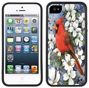 Red Cardinal Handmade iPhone 5 5S Black Bumper Plastic Case