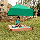 Frame It All Two'' Series 4ft. x 5.5in. Composite Square Sandbox Kit with Canopy/Cover
