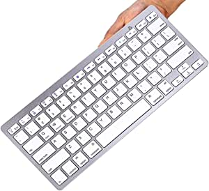 TEGAL Bluetooth Keyboard, Ultra-Slim Wireless Keyboard Compatible with 2018 iPad Pro 11/12.9, New iPad 9.7 Inch, iPad Air, iPad Mini, iPhone and Other Bluetooth Enabled Devices